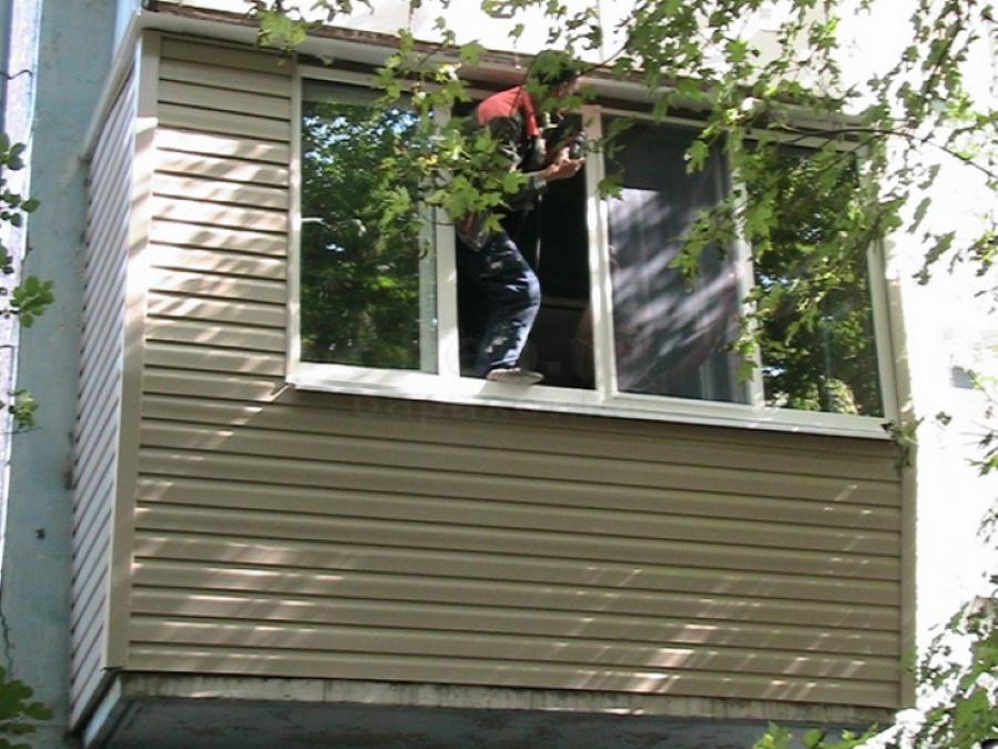 Как крепить сайдинг при утеплении балкона. внутренний и внеш.