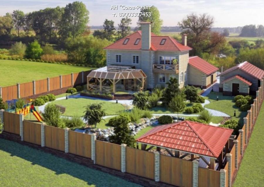 Проект участка загородного дома фото